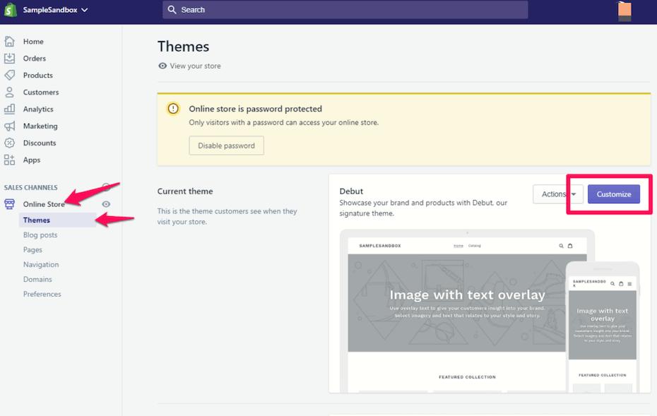 Shopify-Tutorial zum Bearbeiten von Themen