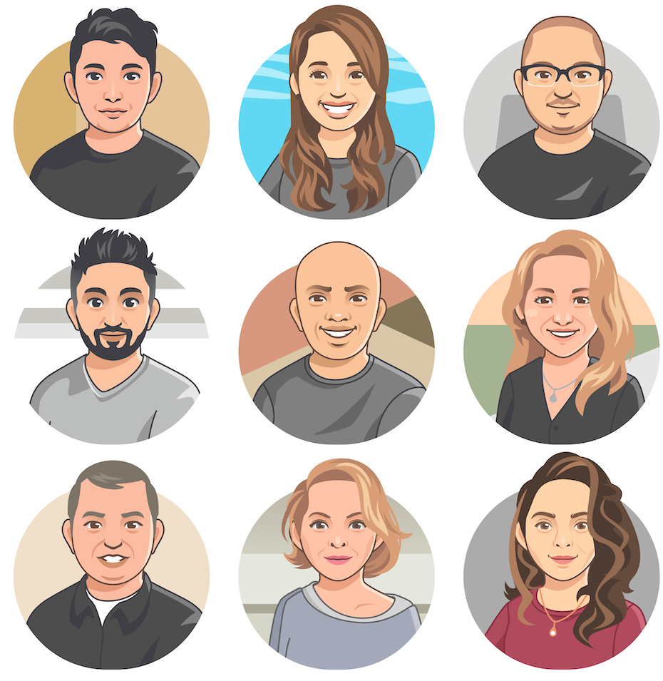 Illustration of various user avatars