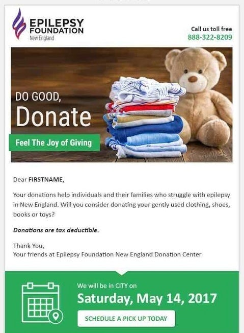 Donation email