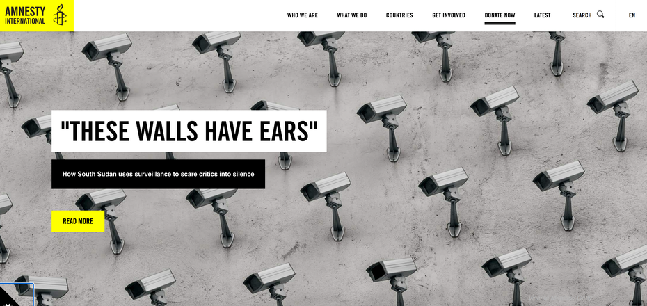 Amnesty International homepage