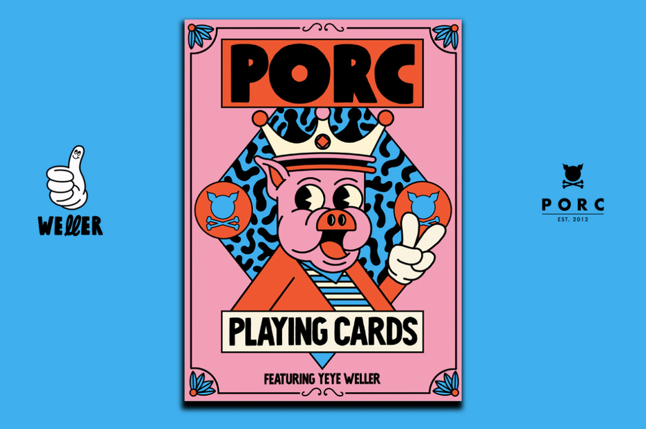 Illustrated design of playing cards