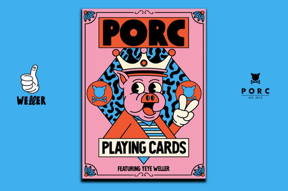 Design illustré d'un jeu de cartes dans le style Memphis