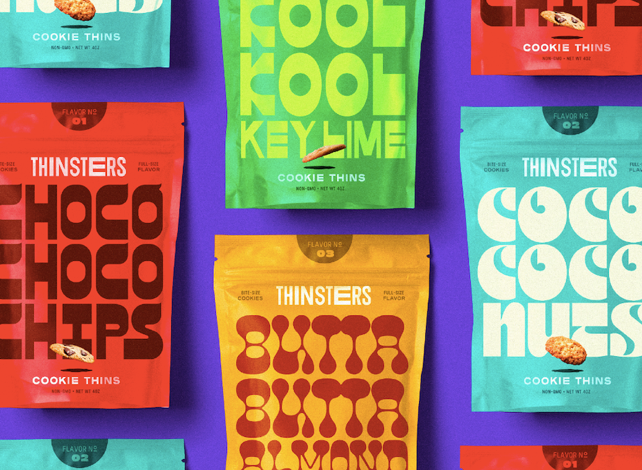 bright colored packaging designs