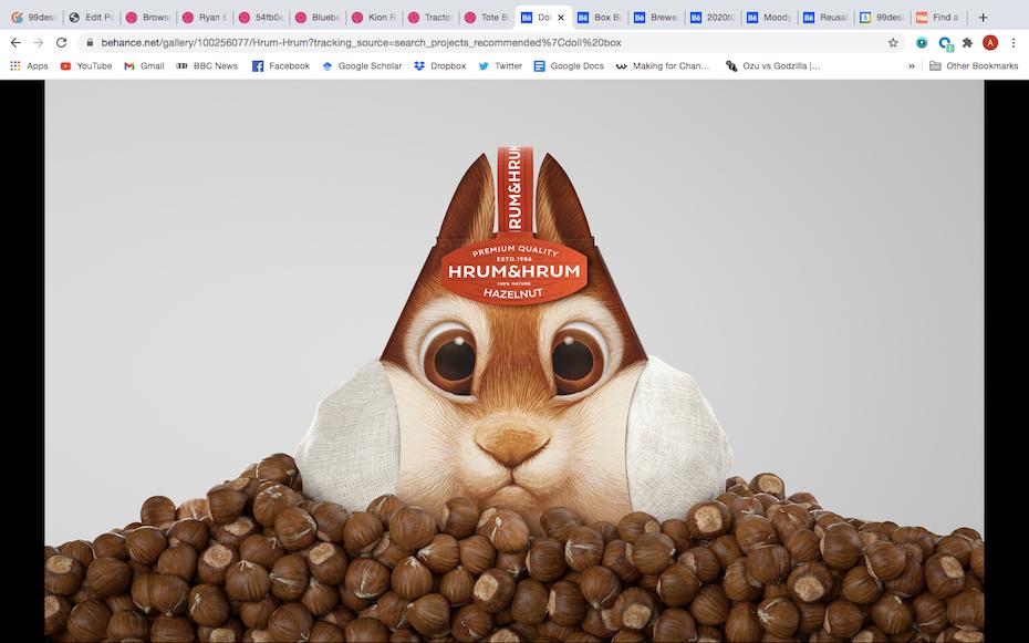 novelty packaging design for squirrel food