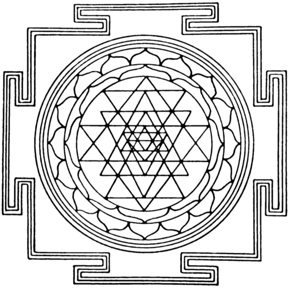 An example of a yantra or mandala sacred geometry