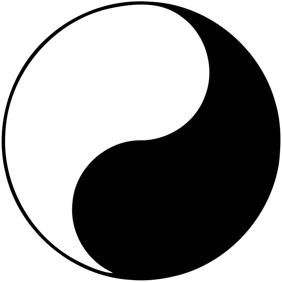 An example of the yin yang sacred geometry