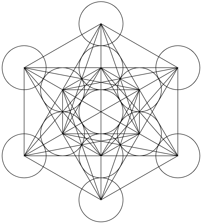 An example of Metatron's cub sacred geometry