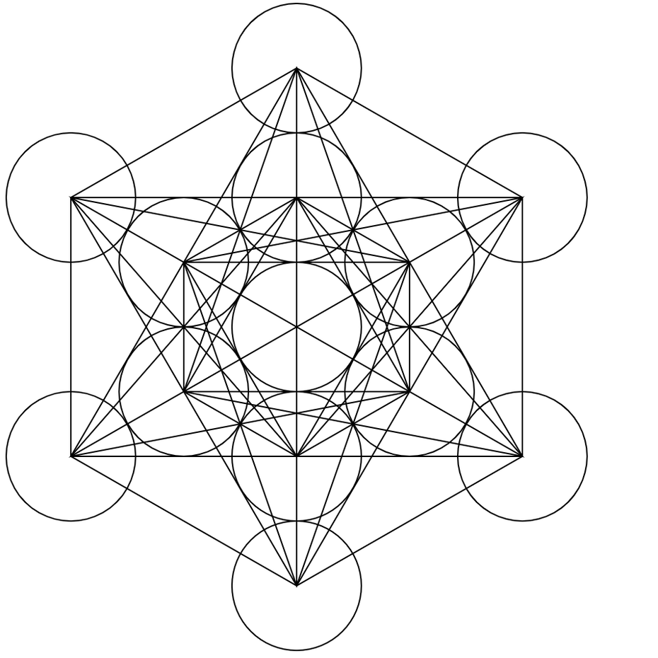 An example of Metatrons cube sacred geometry