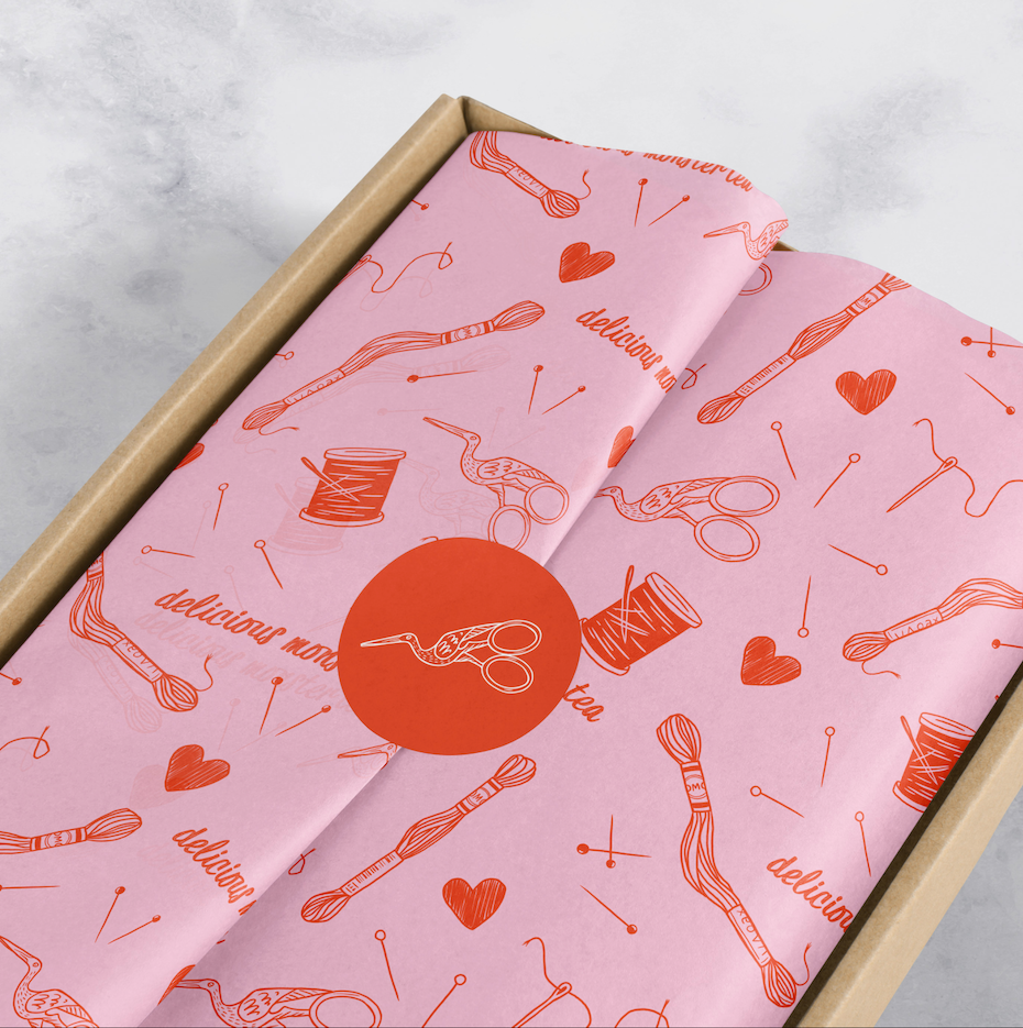 illustrated packaging paper