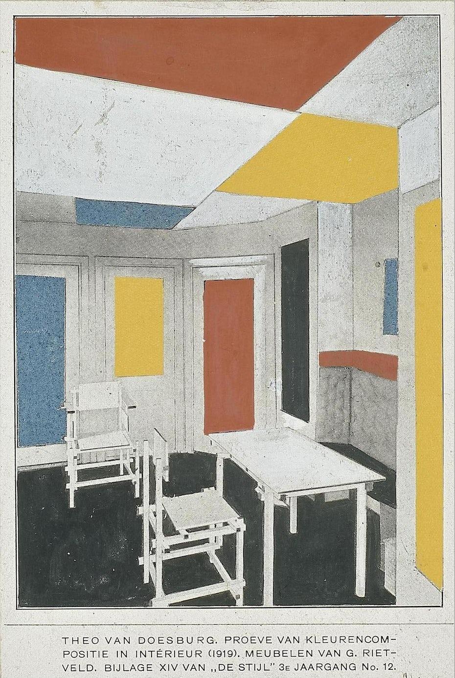 De Stijl interior design