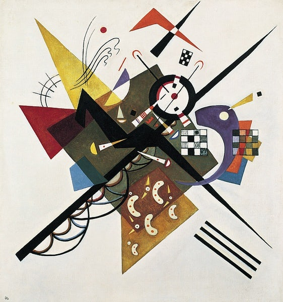 Kadinsky composition On White