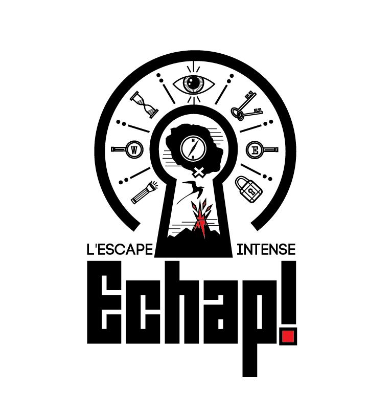 Logodesign für escape room mit einer Reihe von kryptischen Symbolen