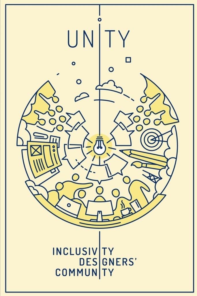 illustration einer Glühbirne mit designer community