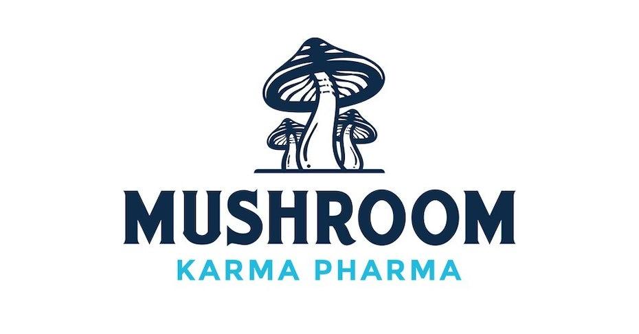 medicinal mushroom & psilocybin design trends example: Mushroom Karma Pharma