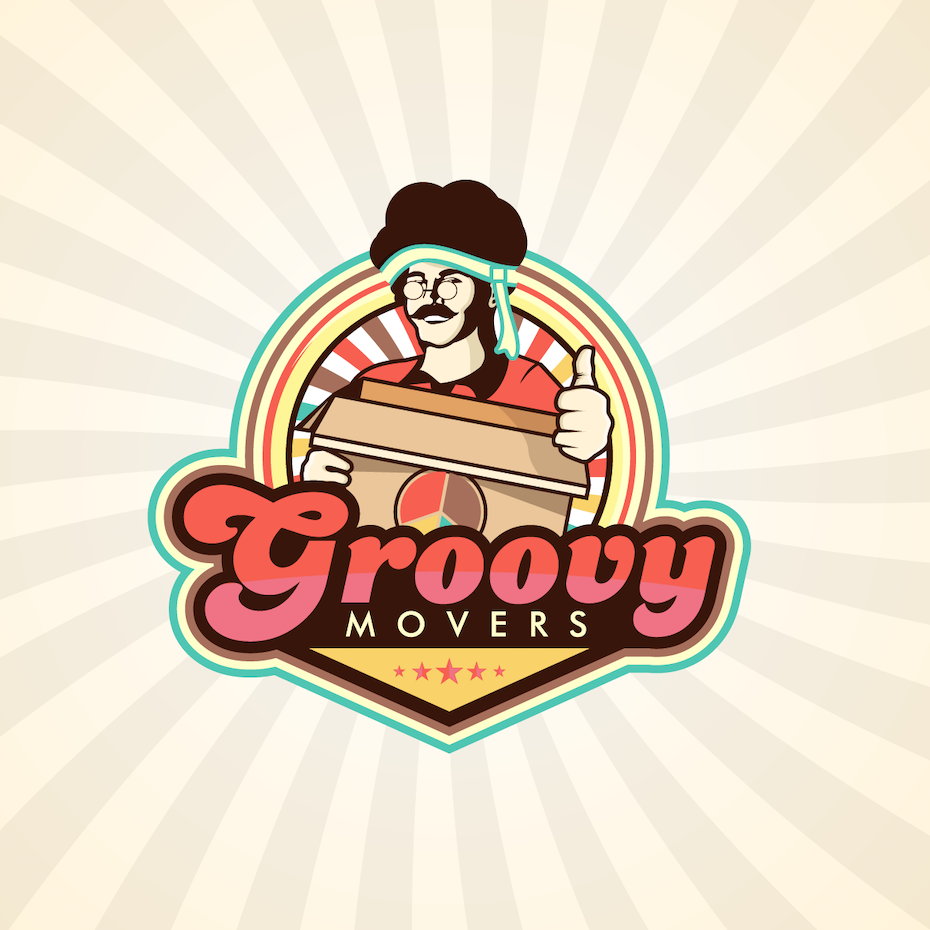 Groovy Movers logo design