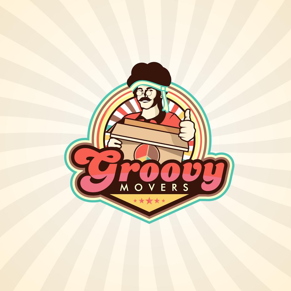 Groovy Movers logo design