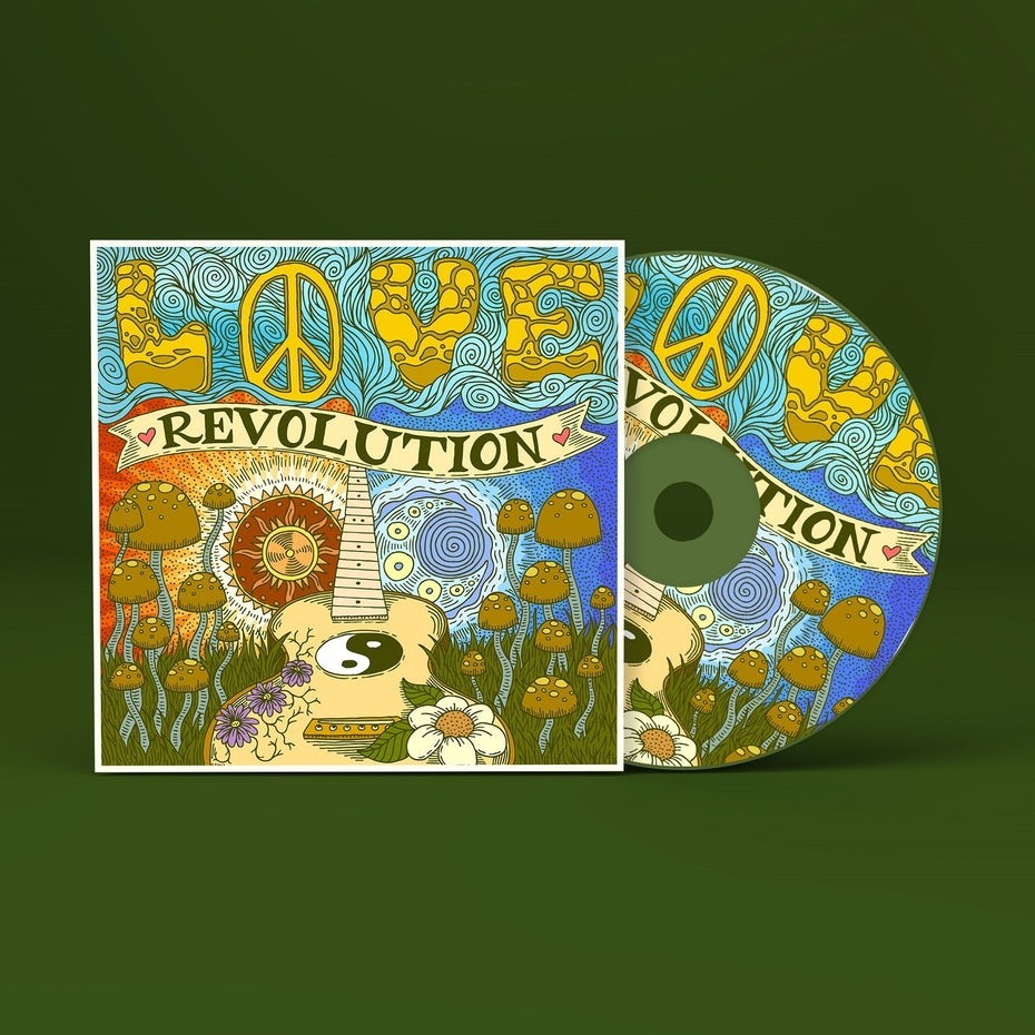 Love Revolution album cover design