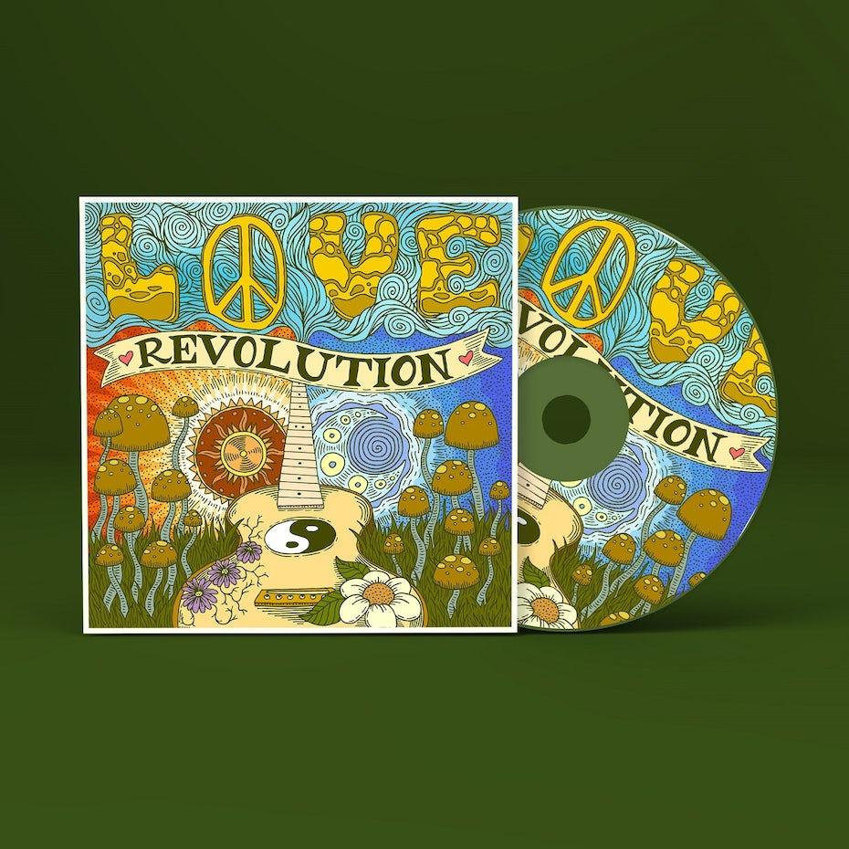 Love Revolution album cover design