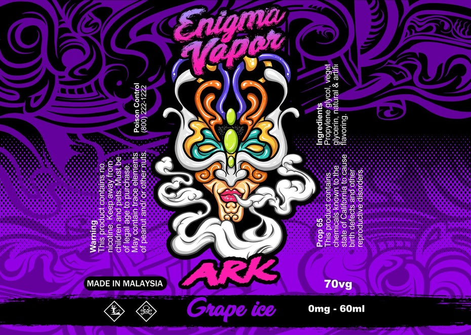 Enigma Vapor label design