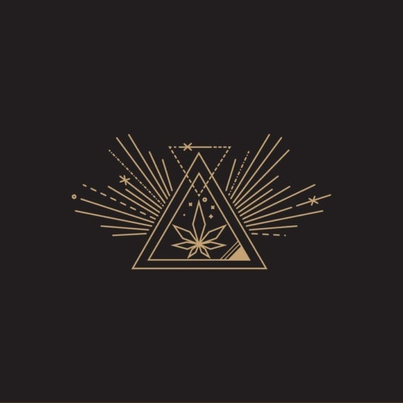 Sacred geometry logo design for cannabis company