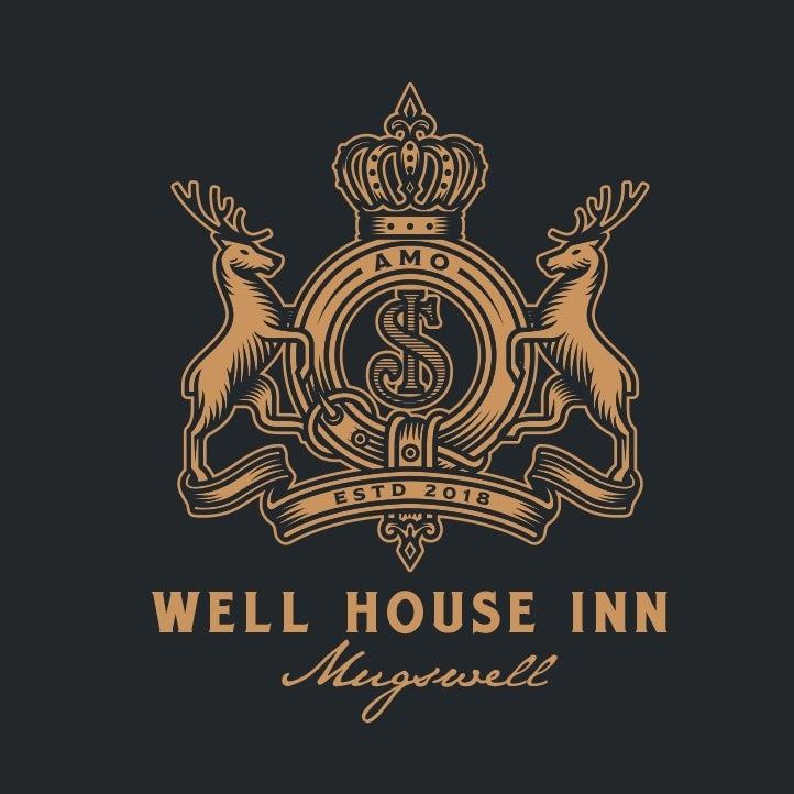Coat of arms style logo for hospitality brand