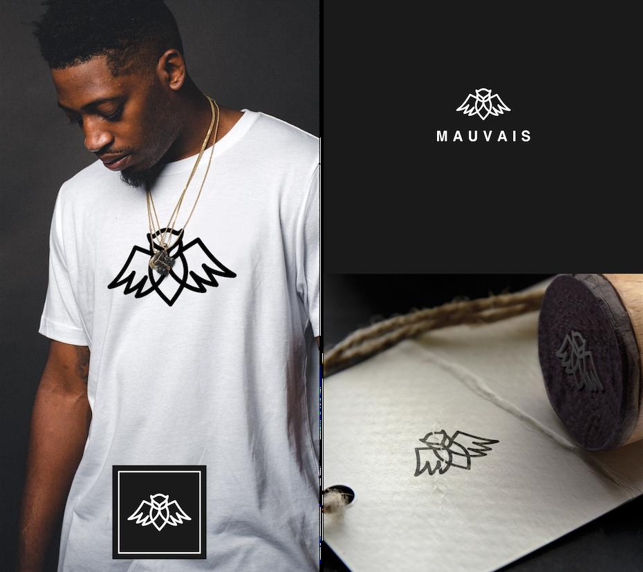 Monochromes Eulen-logodesign für eine High Street-Modemarke