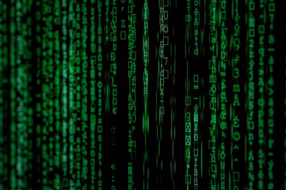 was ist webhosting? bekannte grafik aus dem film matrix
