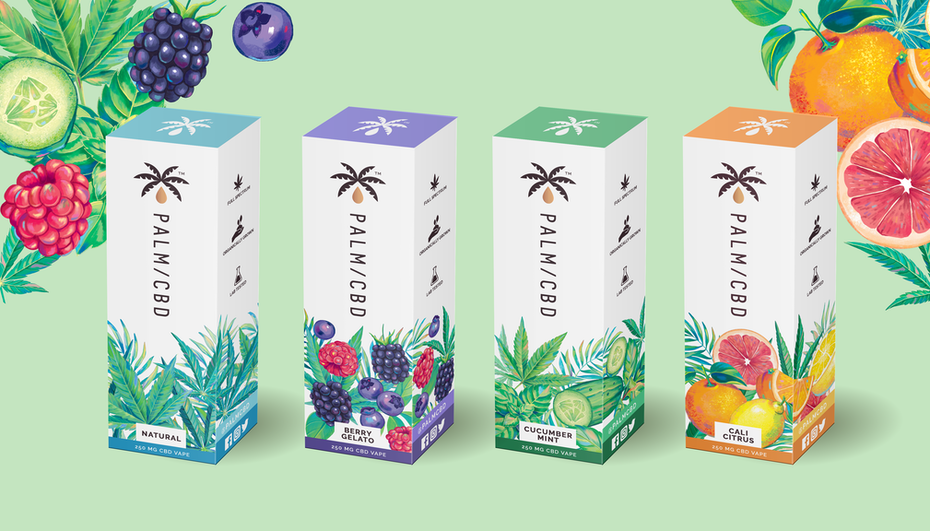 Illustrated product packaging mockup design
