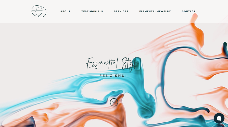 "Minimalist wix web design for ""Essential Style Feng Shui"" and jewelry brand"