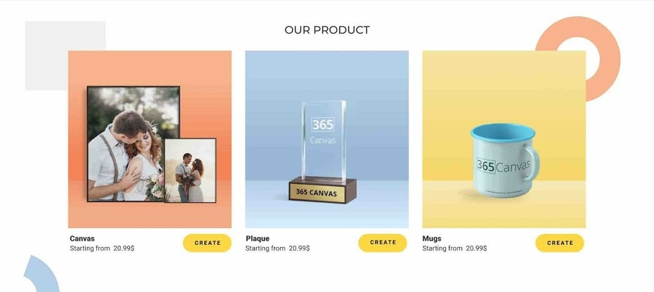 Photo printing ecommerce web design