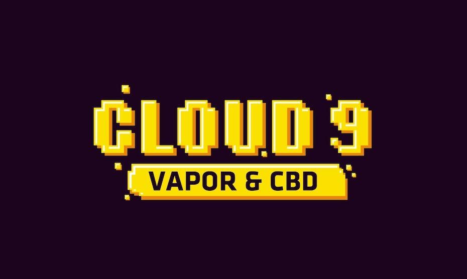 Retro, high contrast dark mode logo