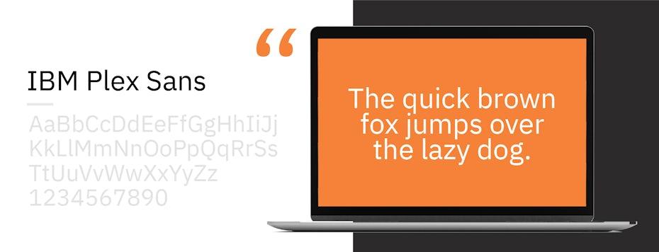Font sample for IBM Plex Sans
