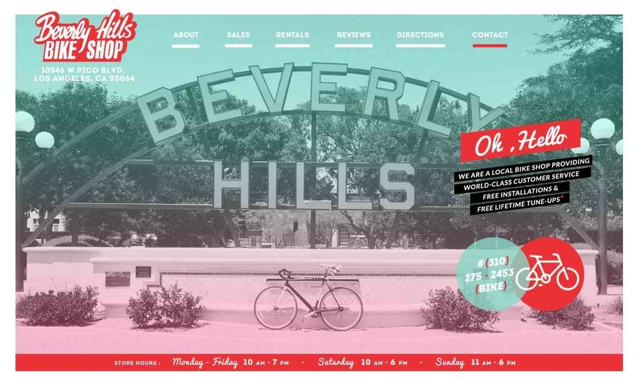 Beverly Hills retro website