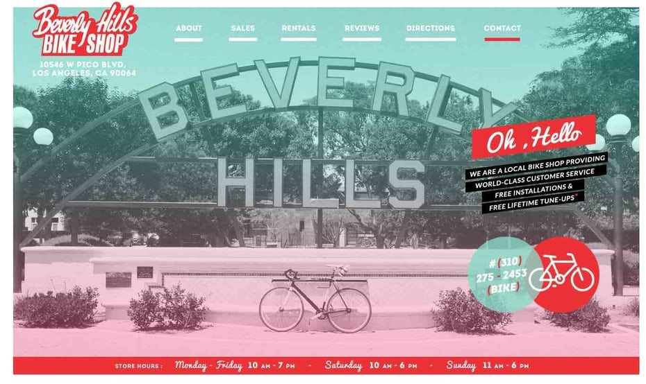 Beverly Hills retro website