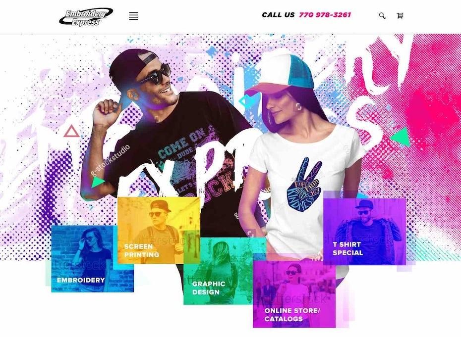 Apparel company web design