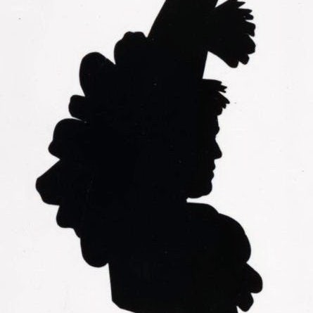 Black and white silhouette of a woman
