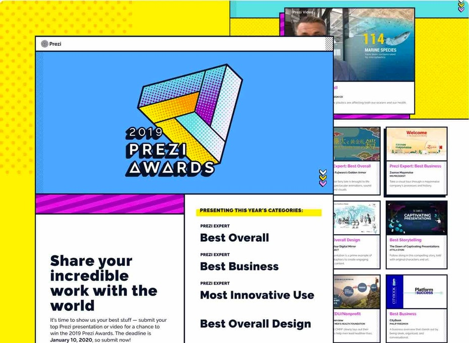 Prezi Awards Landing Page