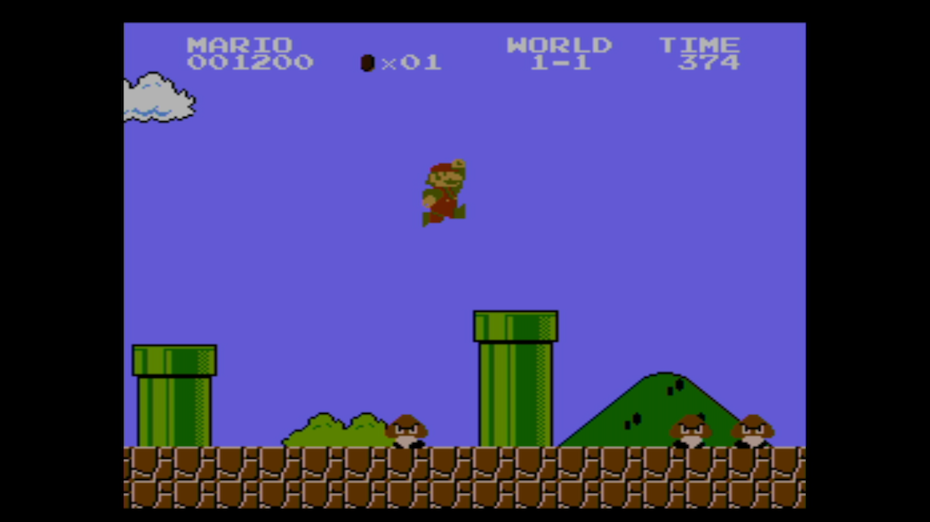 early version of Super Mario Bros