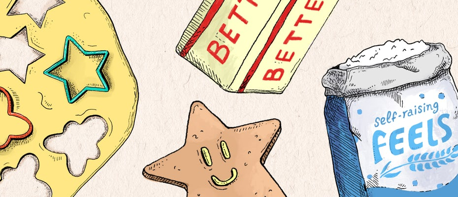 Baking kit including self-raising feels to give your cookies the perfect lift
