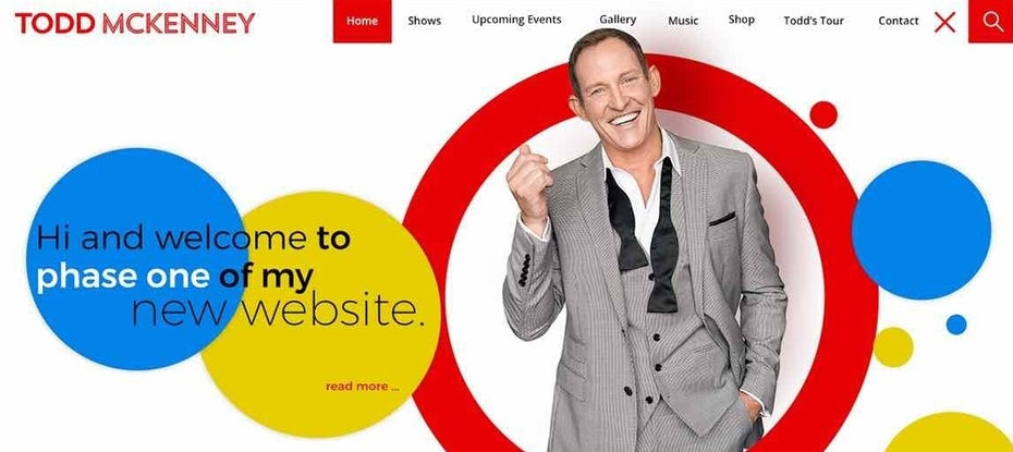 Abstract actor's web design