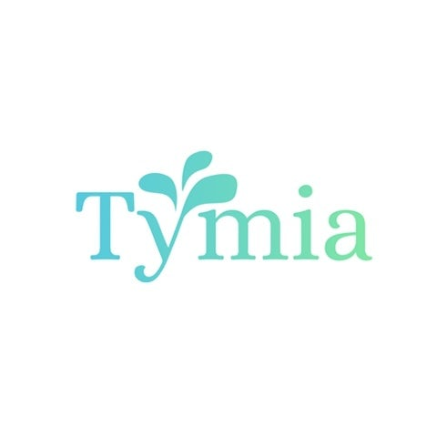 wordmark logo in teal with a leaf between two letters