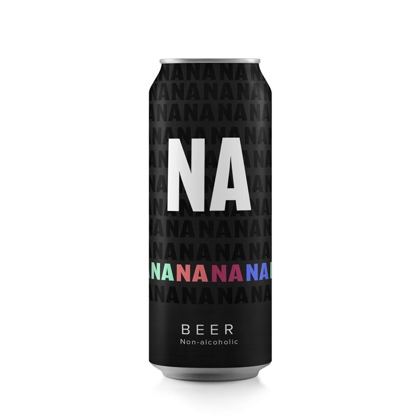 black can with one row of different-colored letters and one large set of white letters