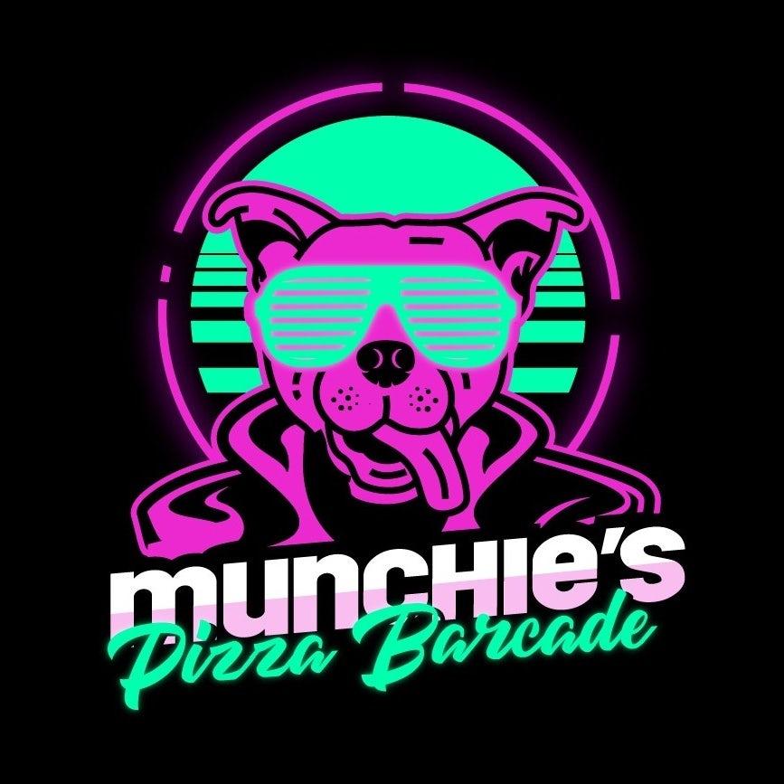 Neon arcade-inspired logo