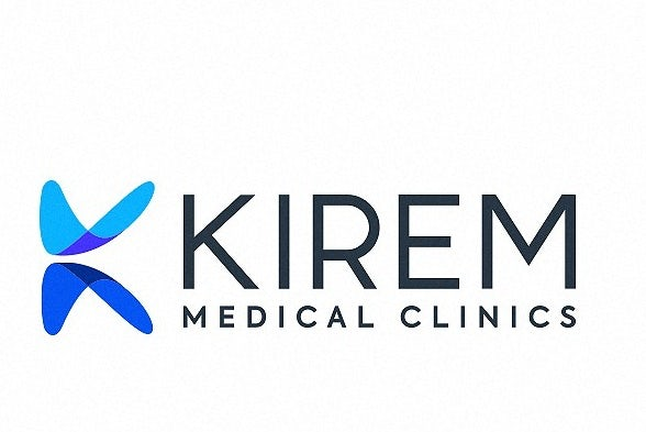 Logo design of an abstract geometric letter for medical brand