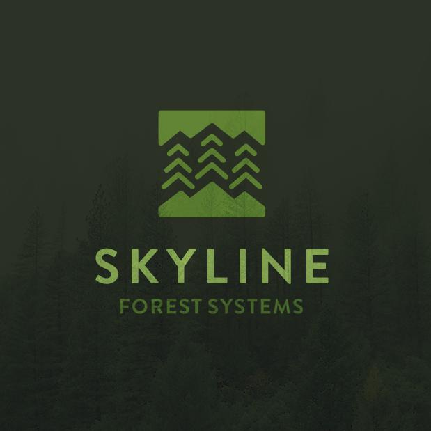 Green nature logo design for forest brand