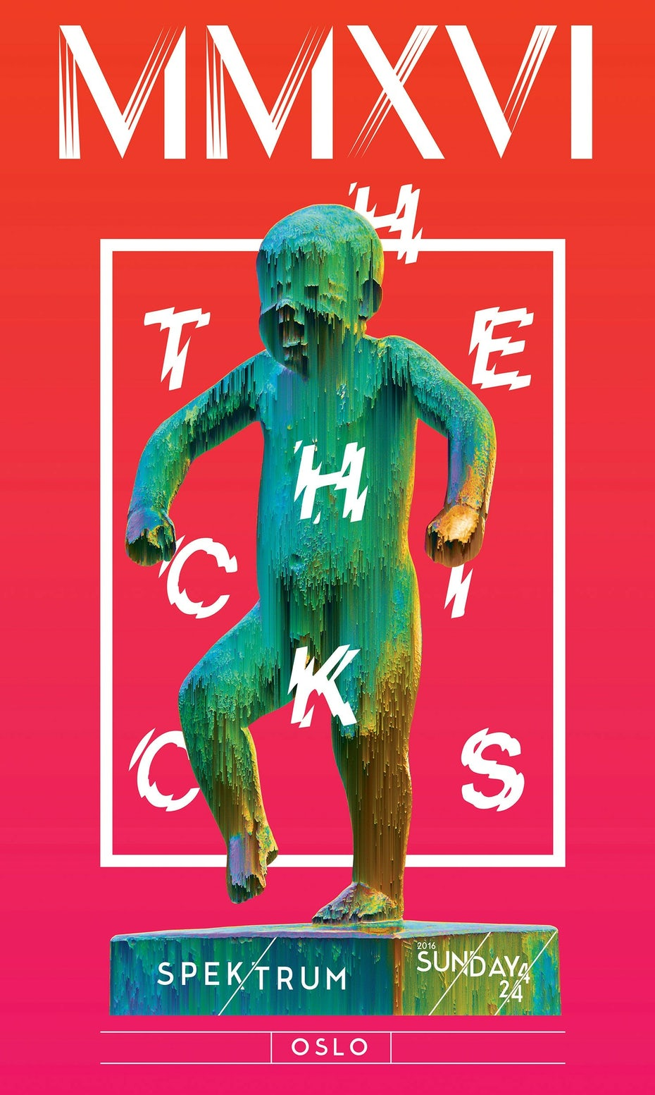 Glitch art Dixie Chicks event marketing material