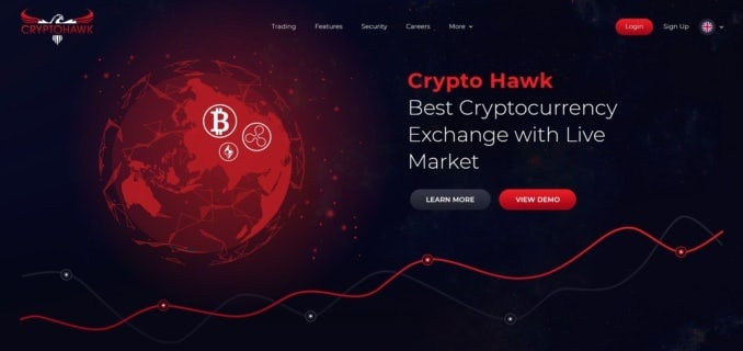 cryptocurrency web design