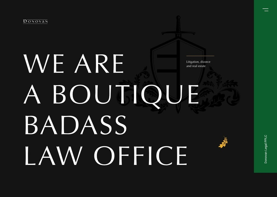 Website design for a boutique law office