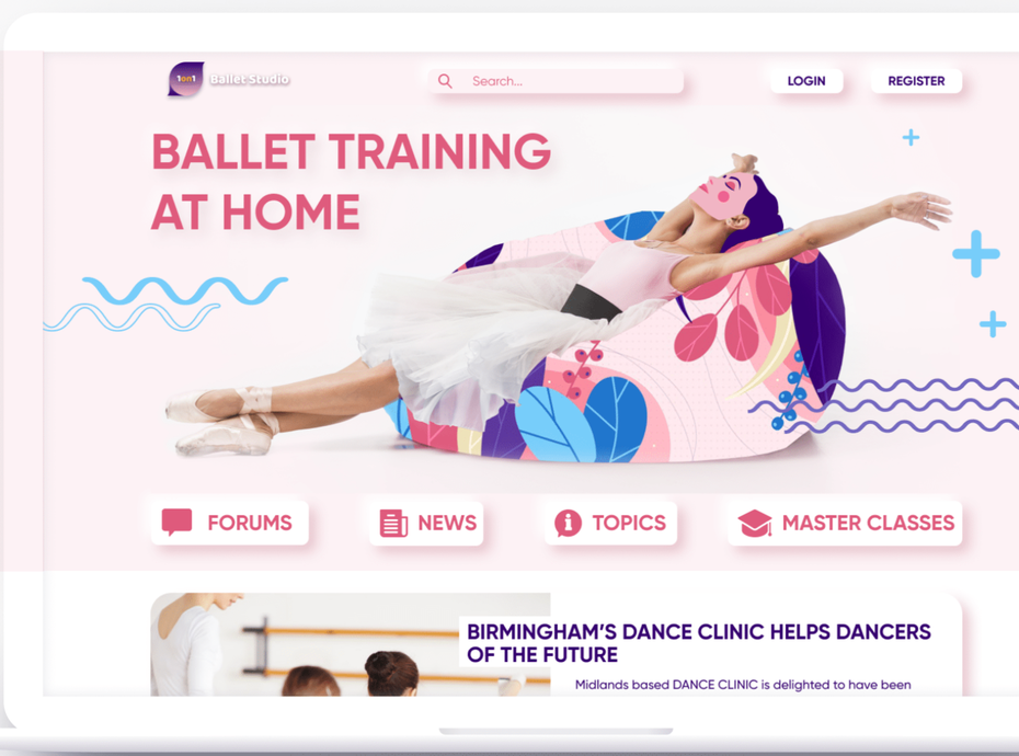 Ballet lovers neumorphism website