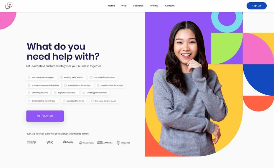 Colorful design for startup